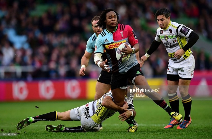 during the European Rugby Challenge Cup Pool 3 match between Harlequins and Rugby Calvisano at Twickenham Stoop on December 19, 2015 in London, England.