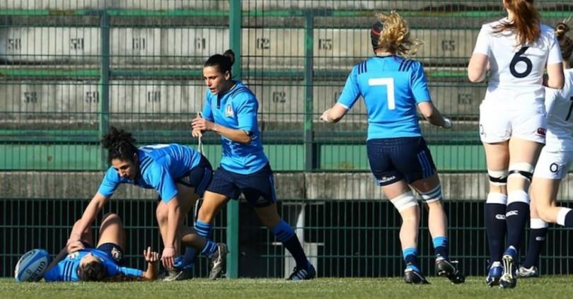 Women's Six Nations Championship Round 2, Stadio Gino Pistoni, Ivrea, Italy 13/2/2016 Italy vs England Italy's Maria Grazia Cioffi scores a try Mandatory Credit ©INPHO/Matteo Ciambelli