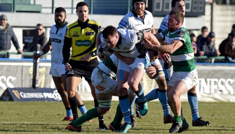 Guinness PRO12, Stadio Monigo, Italy 31/12/2016 Benetton Treviso vs Glasgow Warriors Warriors' Stuart Hogg makes a break Mandatory Credit ©INPHO/Elena Barbini