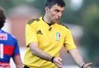 Campionato italiano di Eccellenza 2014/2015, finale play off, Rovigo 30/05/2015, Rovigo Delta v Calvisano, l'arbitro Marius Mitrea.