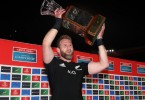 PRETORIA, SOUTH AFRICA - OCTOBER 06: Captain Kieran Read of the New Zealand All Black poses with the trophy after winning during the Rugby Championship match between South Africa Springboks and New Zealand All Blacks at Loftus Versfeld Stadium on October 6, 2018 in Pretoria, South Africa. (Photo by Steve Haag/Getty Images)